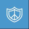 Jail Alerts Icon on Blue